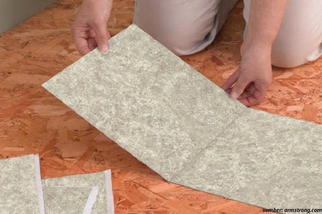 Selain keramik ini 8 tipe lantai yang biasa digunakan for Stick down linoleum tiles