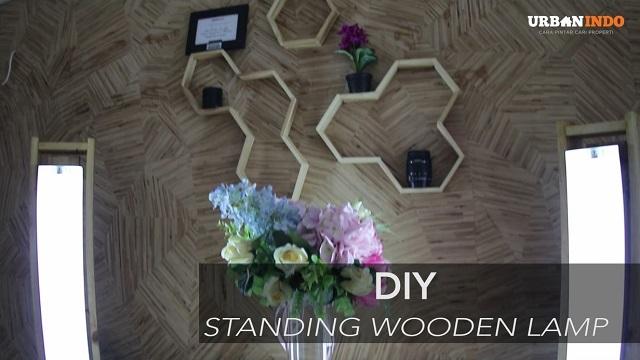 Yuk, Buat Standing Wooden Lamp Ini. Biar Gambar Foto dan Video Vlog Makin Cetar!