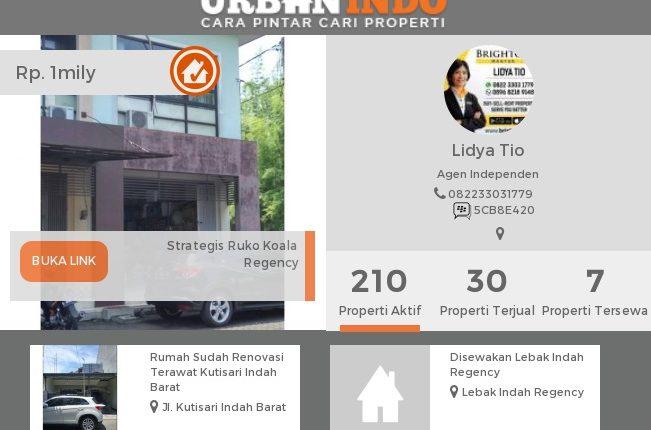 Lidya: Baru Saja Closing Properti Rp4,5 M yang Diiklankan di UrbanIndo