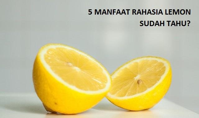 5 Manfaat Rahasia Lemon di Rumah, Sudah Tahu?
