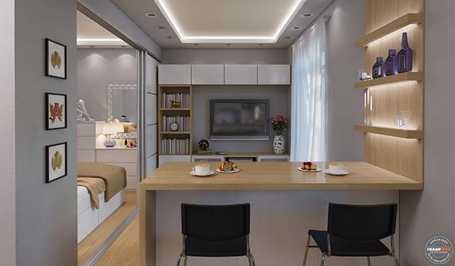 Apartemen Studio Ini Cuma 23 m² Tapi Keliatan Lega Banget. Contek Denahnya, Yuk!