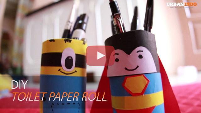 Jangan Dibuang! Sulap Roll Tisu Toilet Jadi Tempat Pensil Lucu