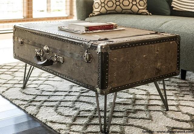 Cara Seru Sulap Koper Bekas Menjadi Meja Baru di Ruang Tamu