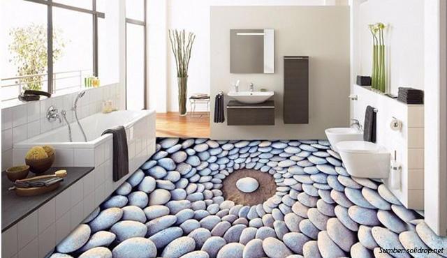 Lantai 3 Dimensi (Dekorasi 3D) Ciamik untuk Pemanis Interior Rumah